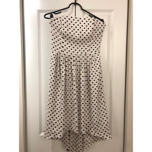 High Low polka dot dress
